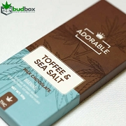 Adorable Milk Chocolate w/ Toffee & Sea Salt - 200mg THC