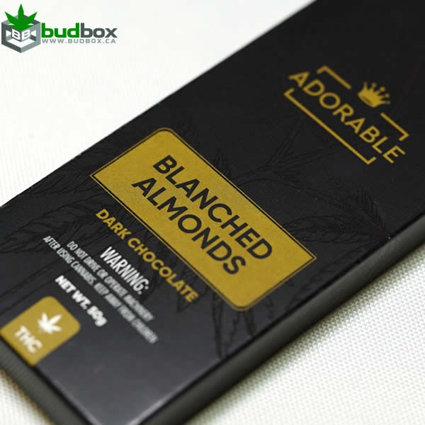 Adorable Dark Chocolate with Almonds - 200mg THC