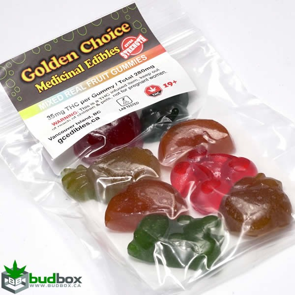 Organic Mixed Fruit Gummies - 280mg THC per package