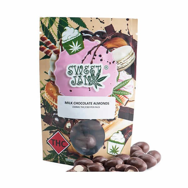 Milk Chocolate Covered Almonds - 150mg THC